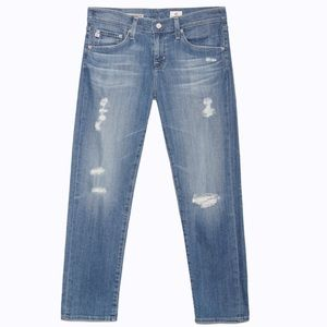 AG the ex boyfriend slim jeans with rips
